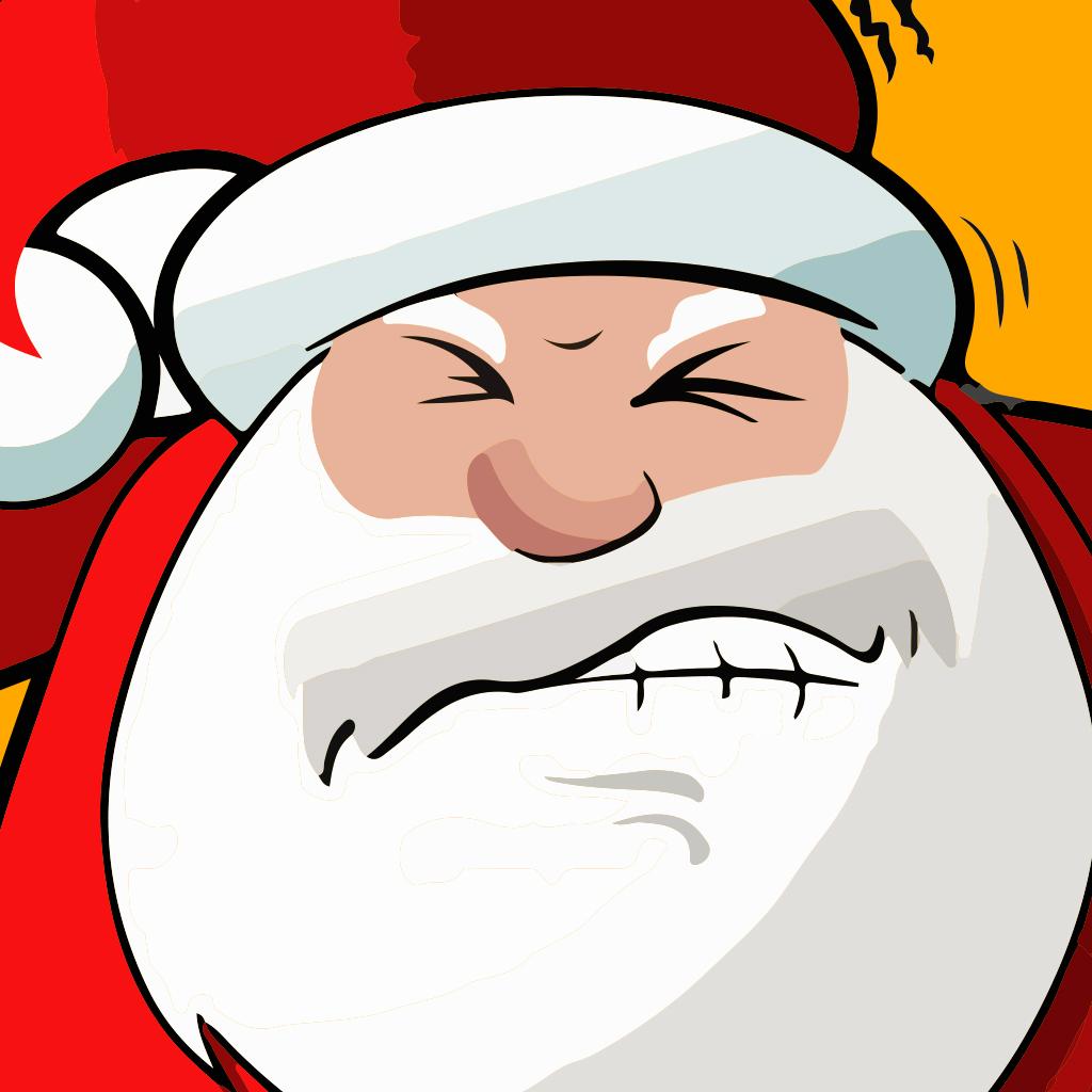 Père Noël amis et héros puissance planche à neige patin jeu - noël plaisir, jouent la famille et les enfants édition de jeux